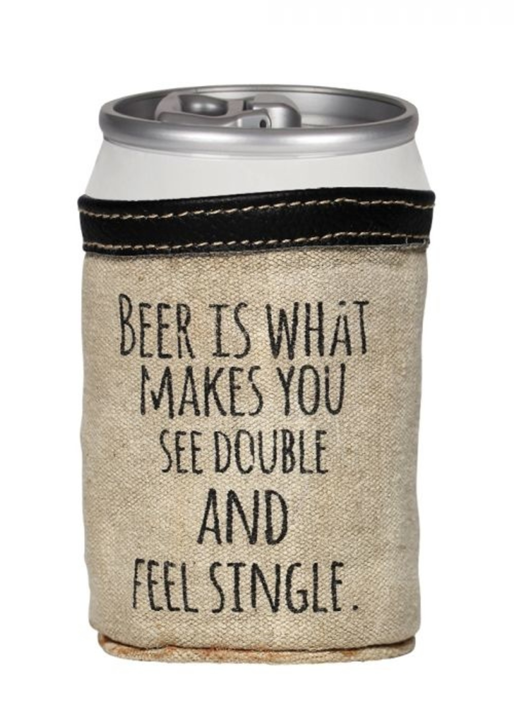 Feel Single Beer Can Koozie