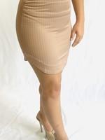 White Shirttail Mini Skirt