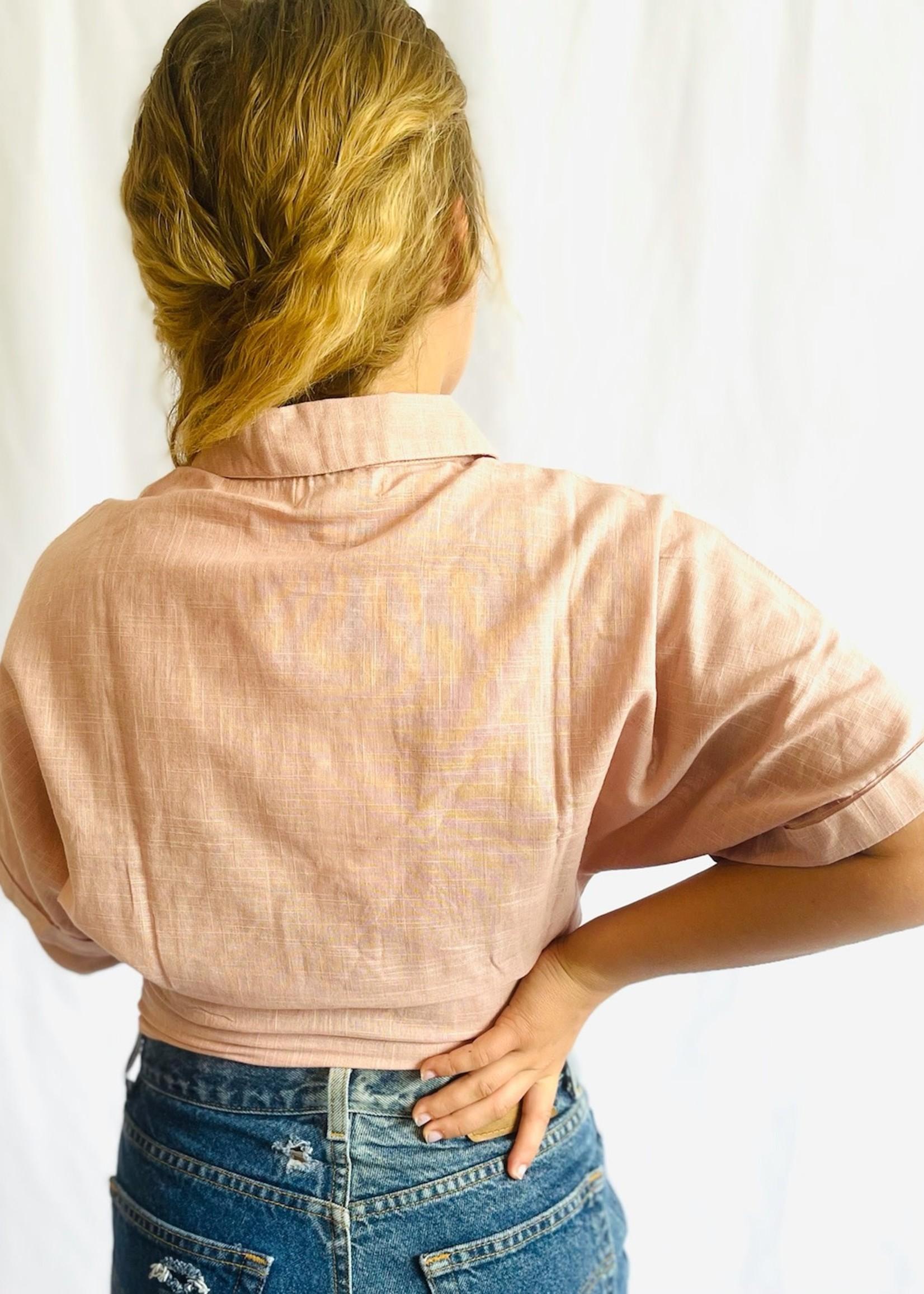 Peach Vegetable  Dyed Shirt