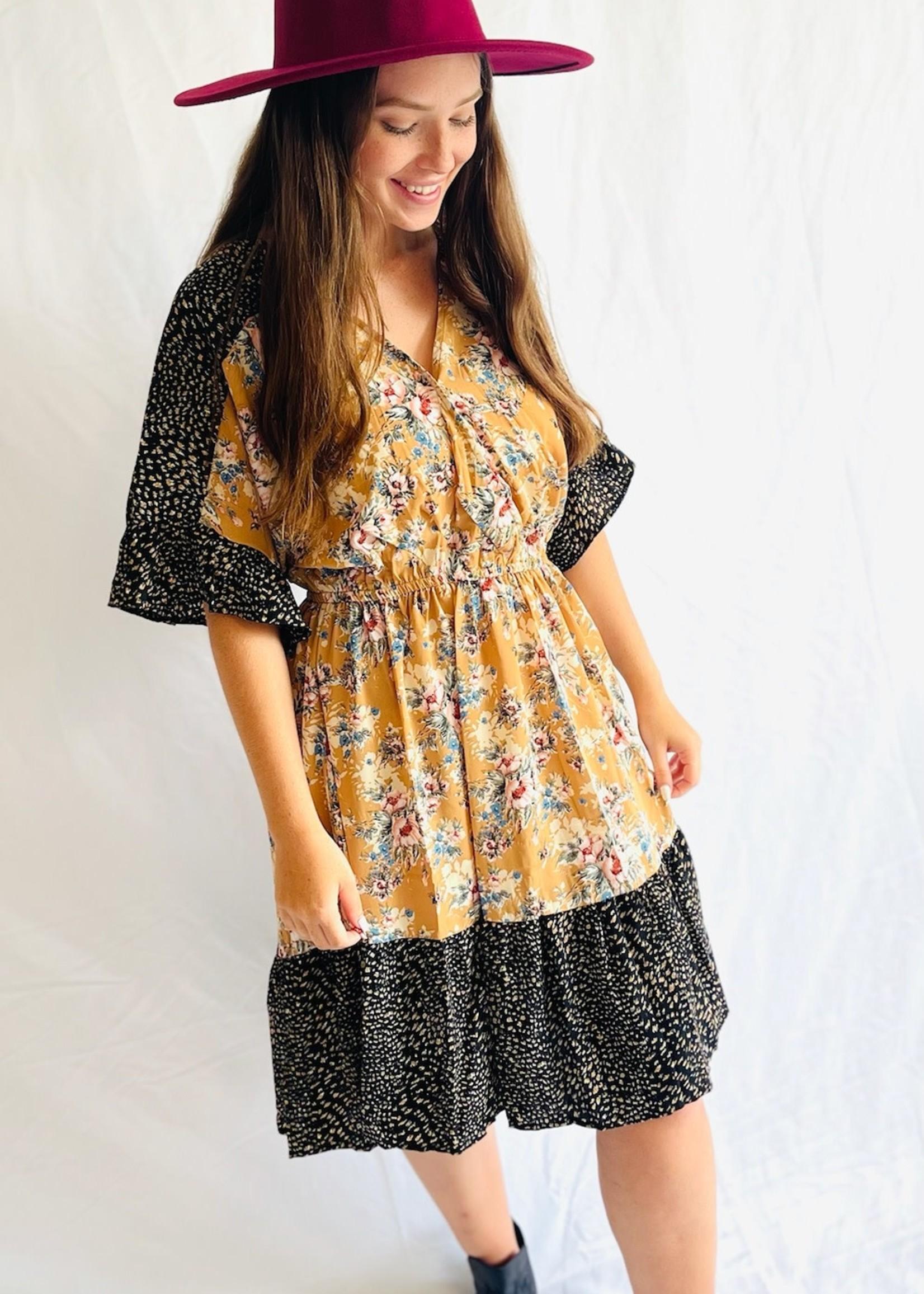 Dolman Sleeve Surplice Dress