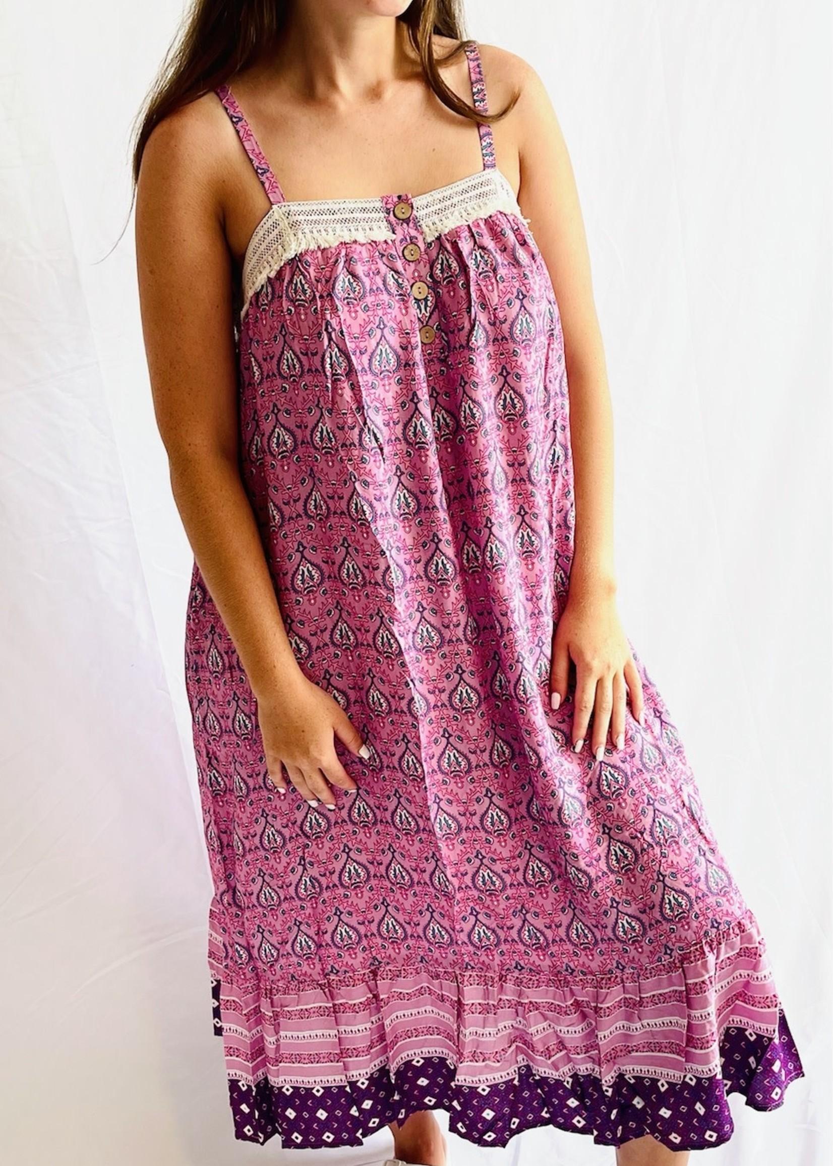 Crochet Trim Hem Dress