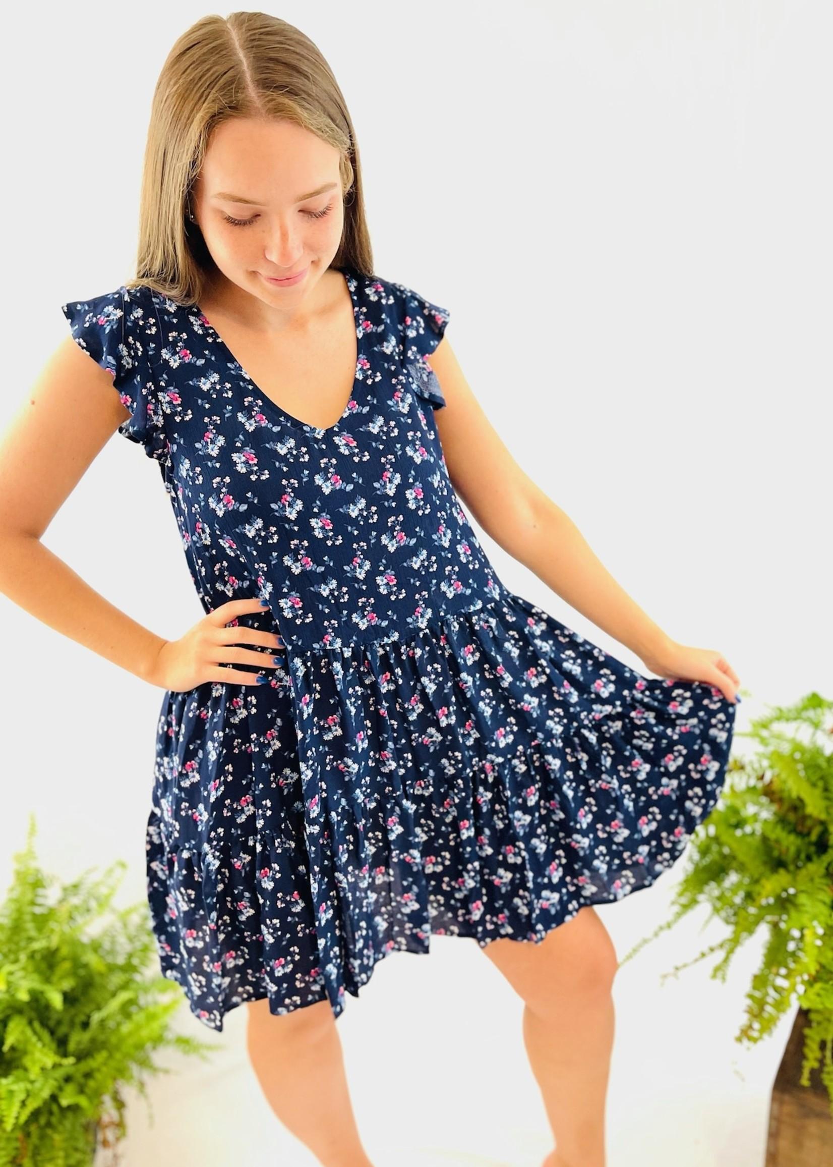 Flutter Sleeve Woven Dress