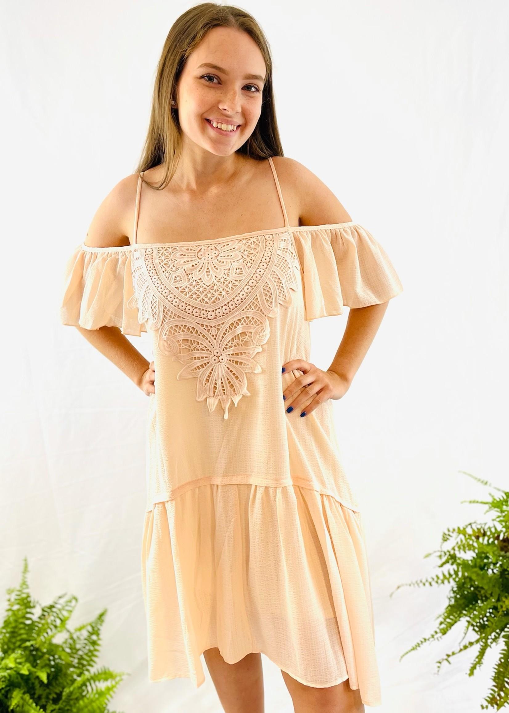 Crochet Spaghetti Strap Dress
