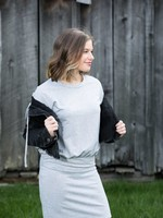 French Terry Long Sleeve Dress
