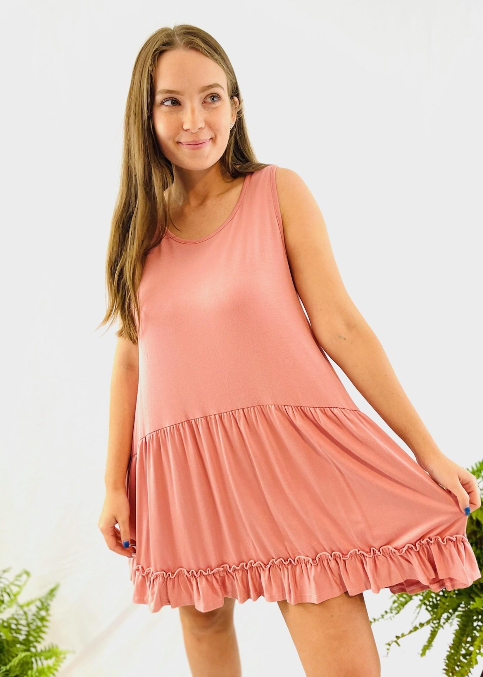 Tunic Top/Dress with Ruffles