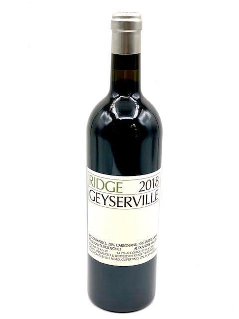 Geyserville Zinfandel Cuvee 2018 Ridge Vineyards