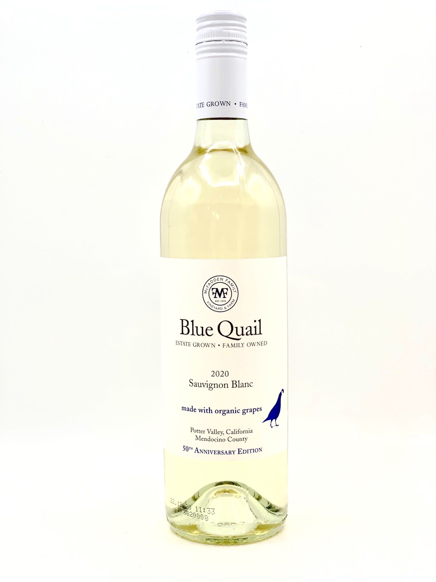 Potter Valley Sauvignon Blanc 2020 Blue Quail 750ml