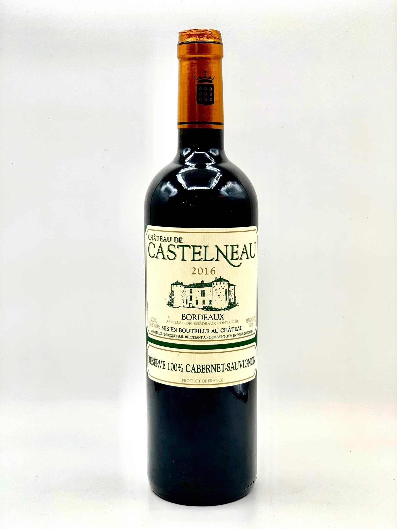 Bordeaux Cabernet Sauvignon 2016 Chateau de Castelneau