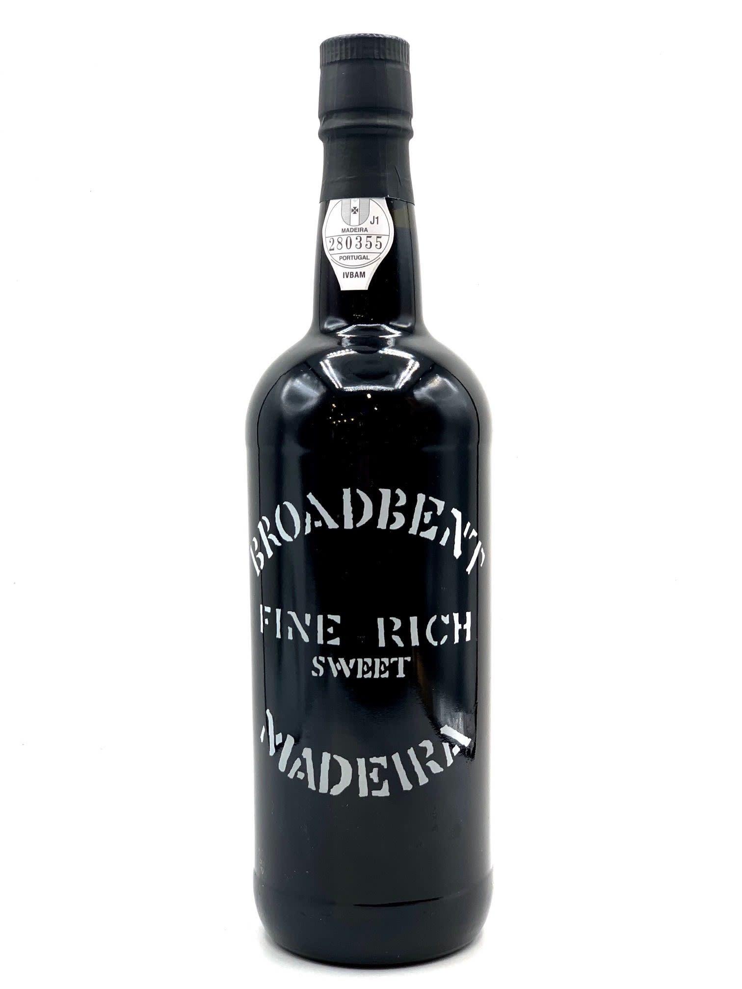 "Madeira ""Fine & Rich"" 3 Year Broadbent 750ml"