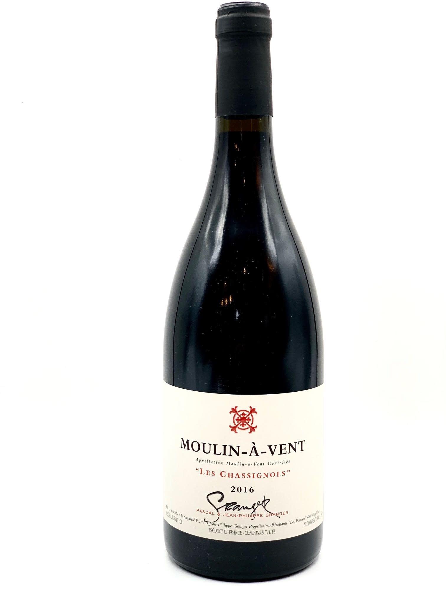"Beaujolais-Moulin A Vent 2016/17 Pascal & Jean-Philippe Granger ""Les Chassignols"" 750ml"