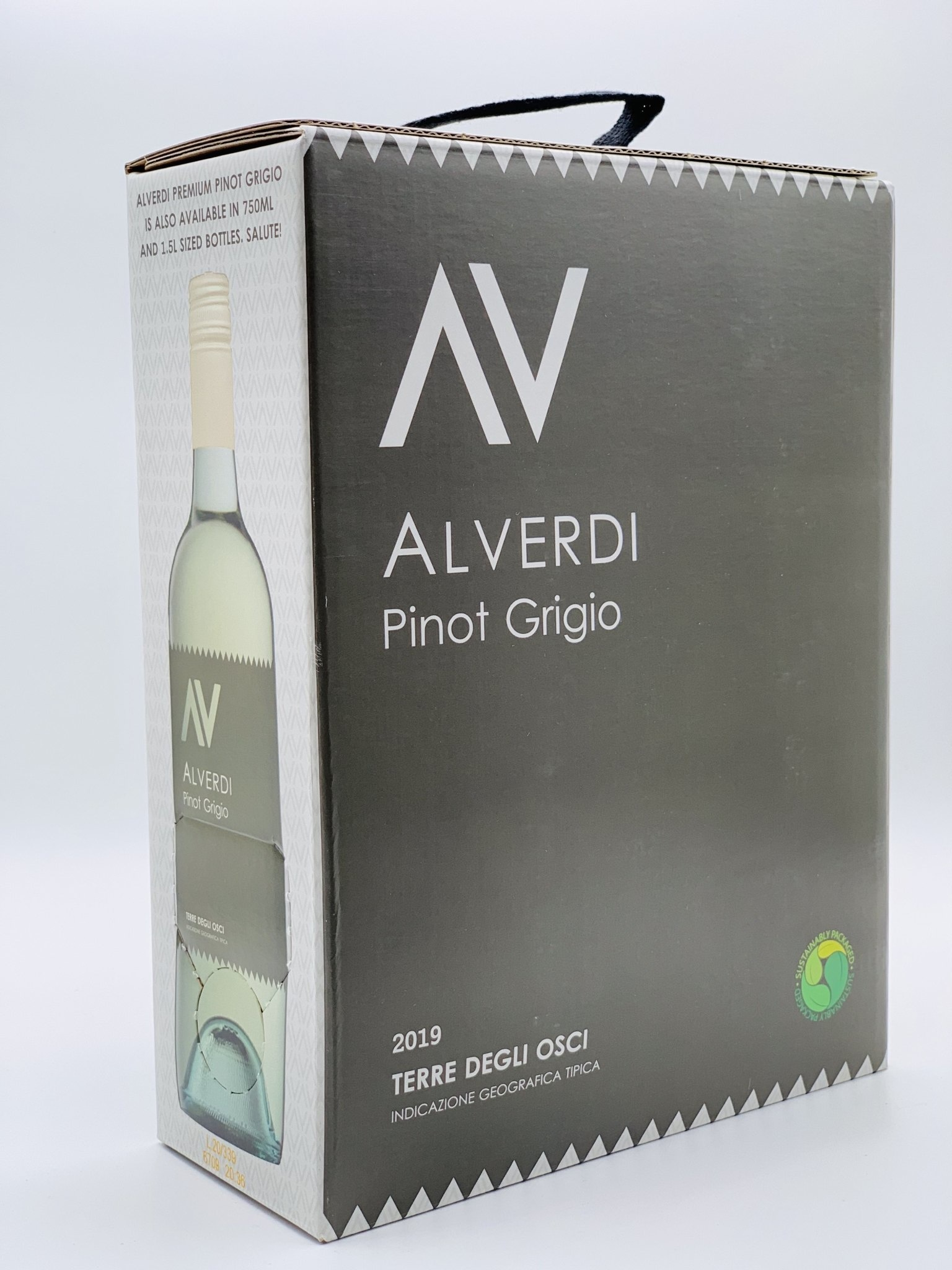 Molise Pinot Grigio 2019 Alverdi 3.0 Liter Box Wine