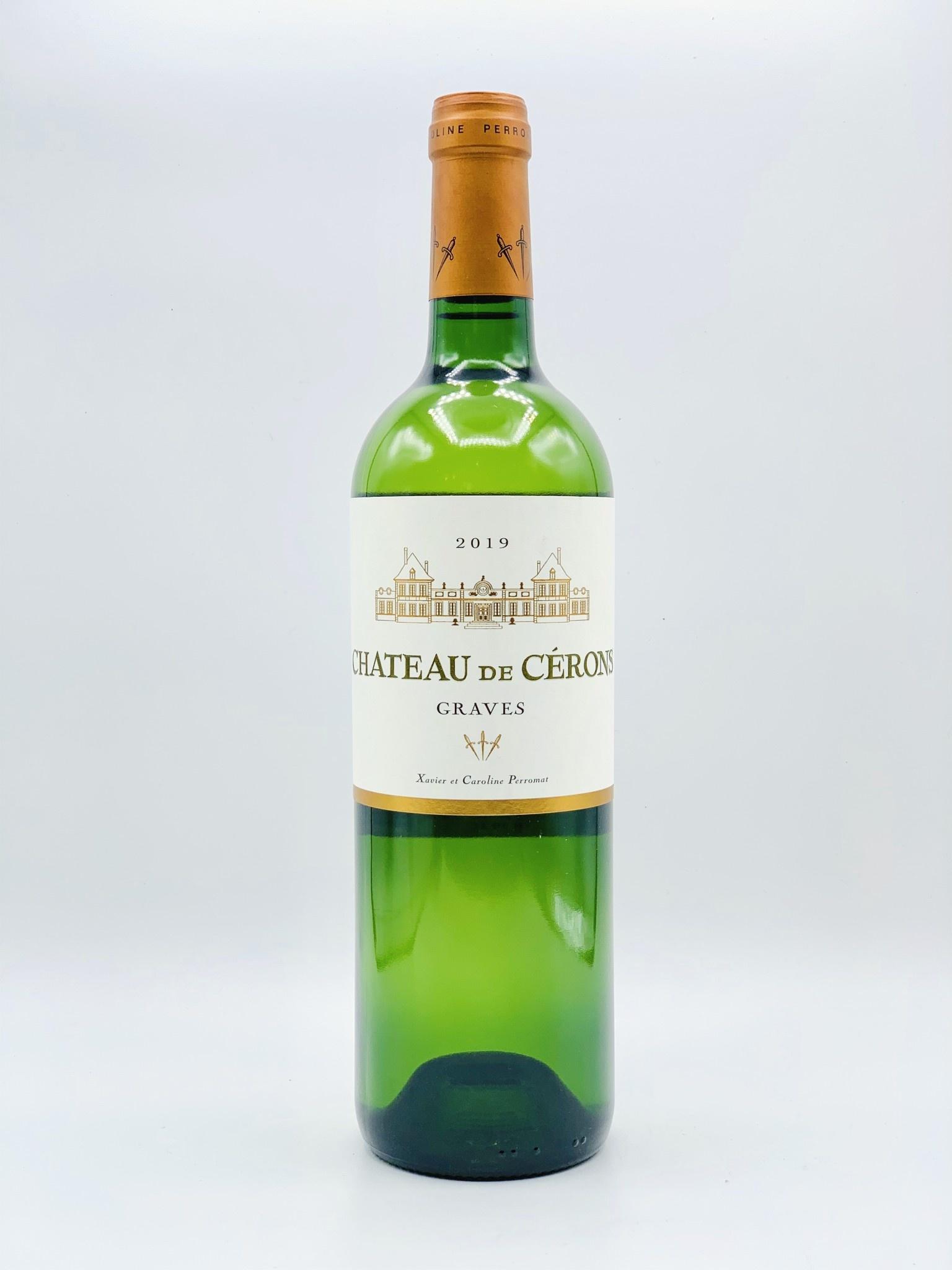 """Bordeaux Graves Blanc 2019 Château de Cerons """"Graves"""" 750ml"""