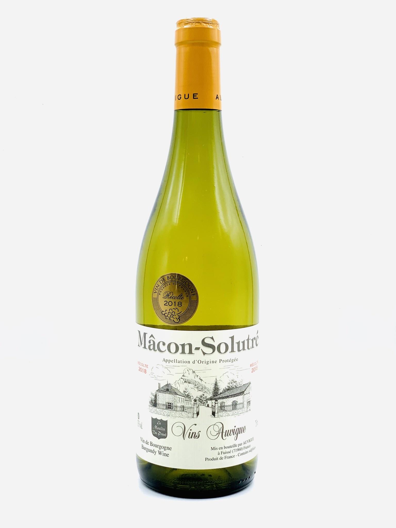 Macon-Solutre Blanc 2018  Domaine Auvigue 'Le Moulin du Pont'