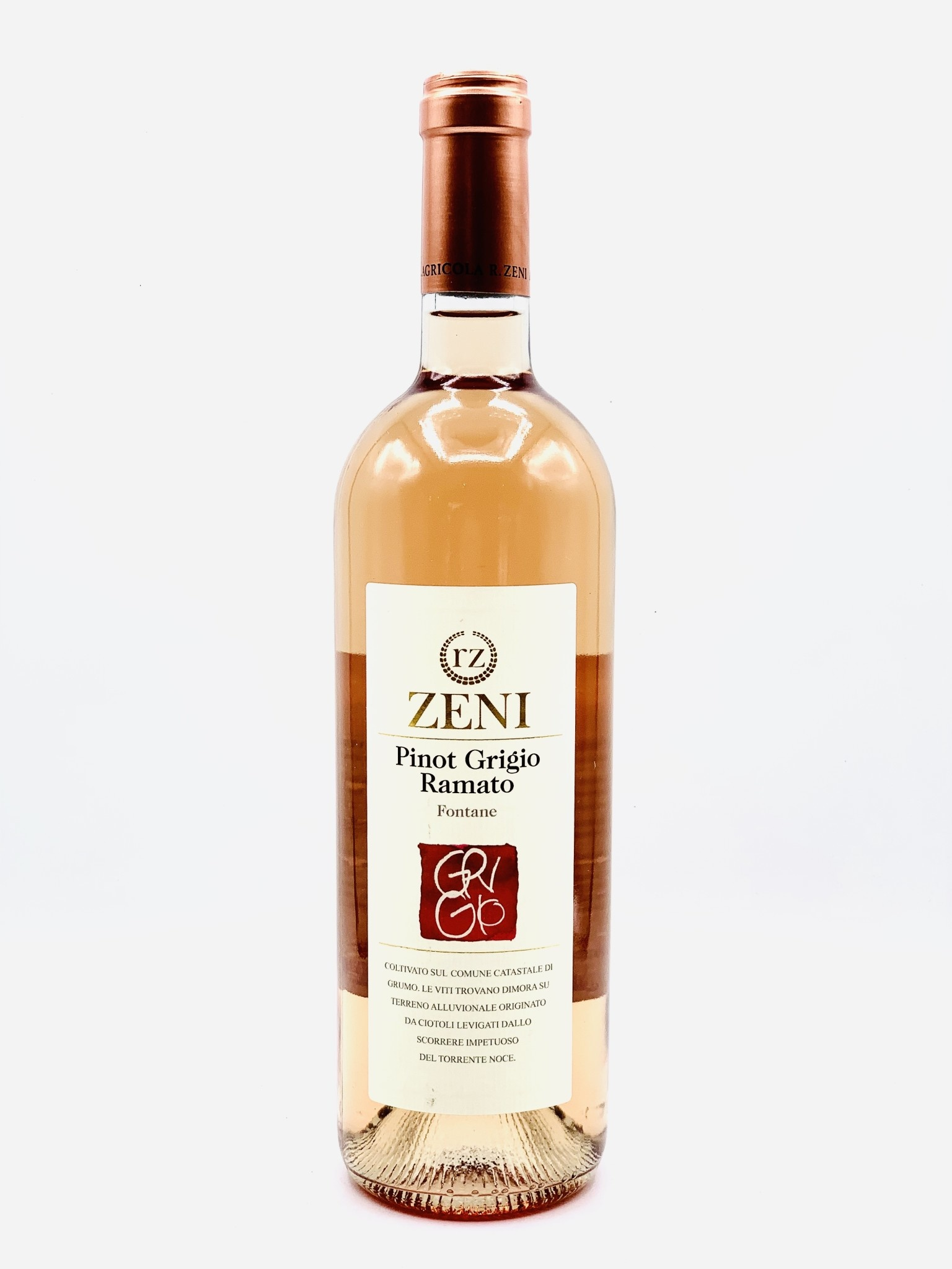 "Trentino Pinot Grigio 2018 Azienda Zeni ""Ramato"" 750ml"