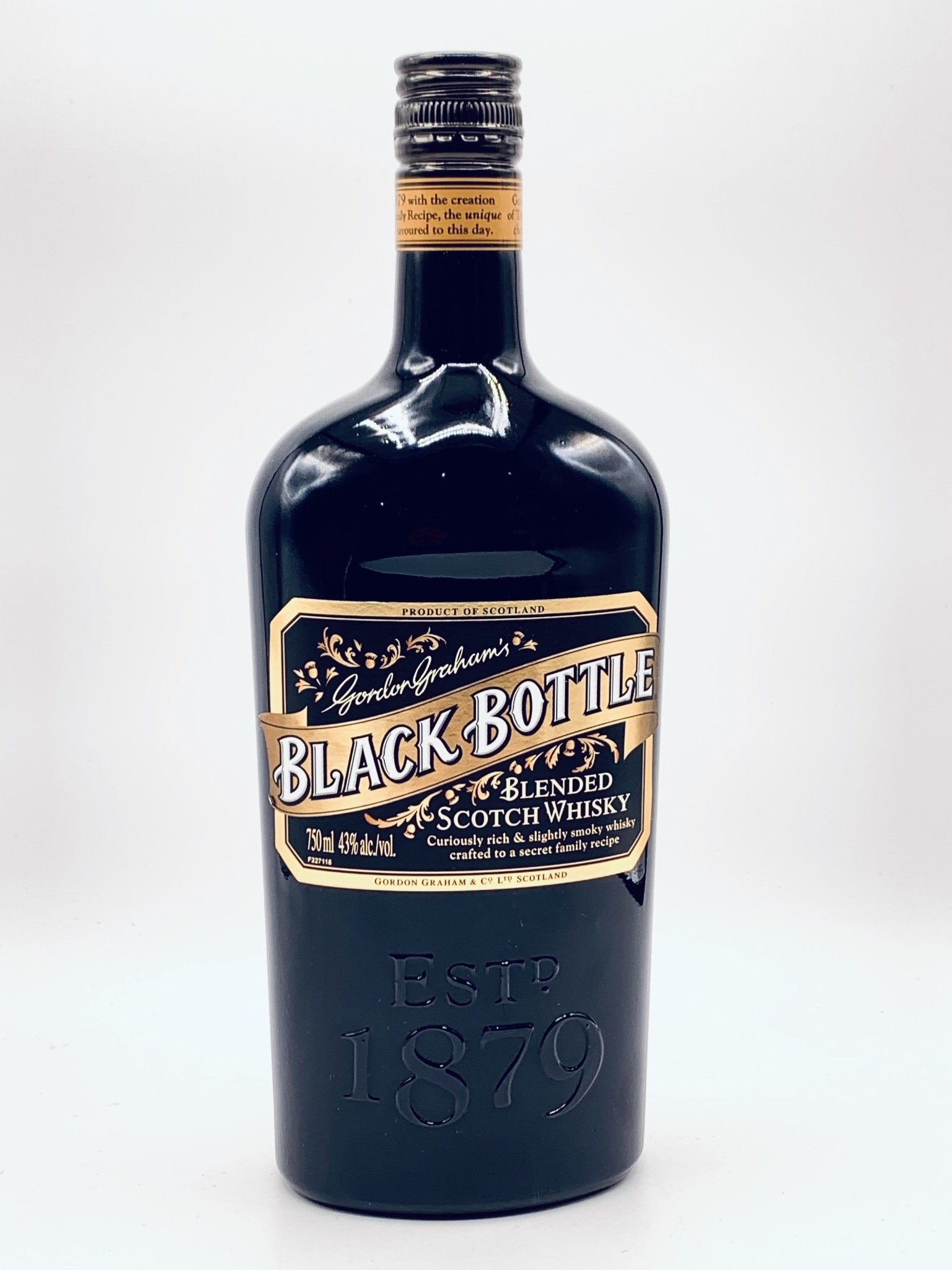 Gordon Graham's Black Bottle Blended Scotch Whisky 750ml (80 Proof)