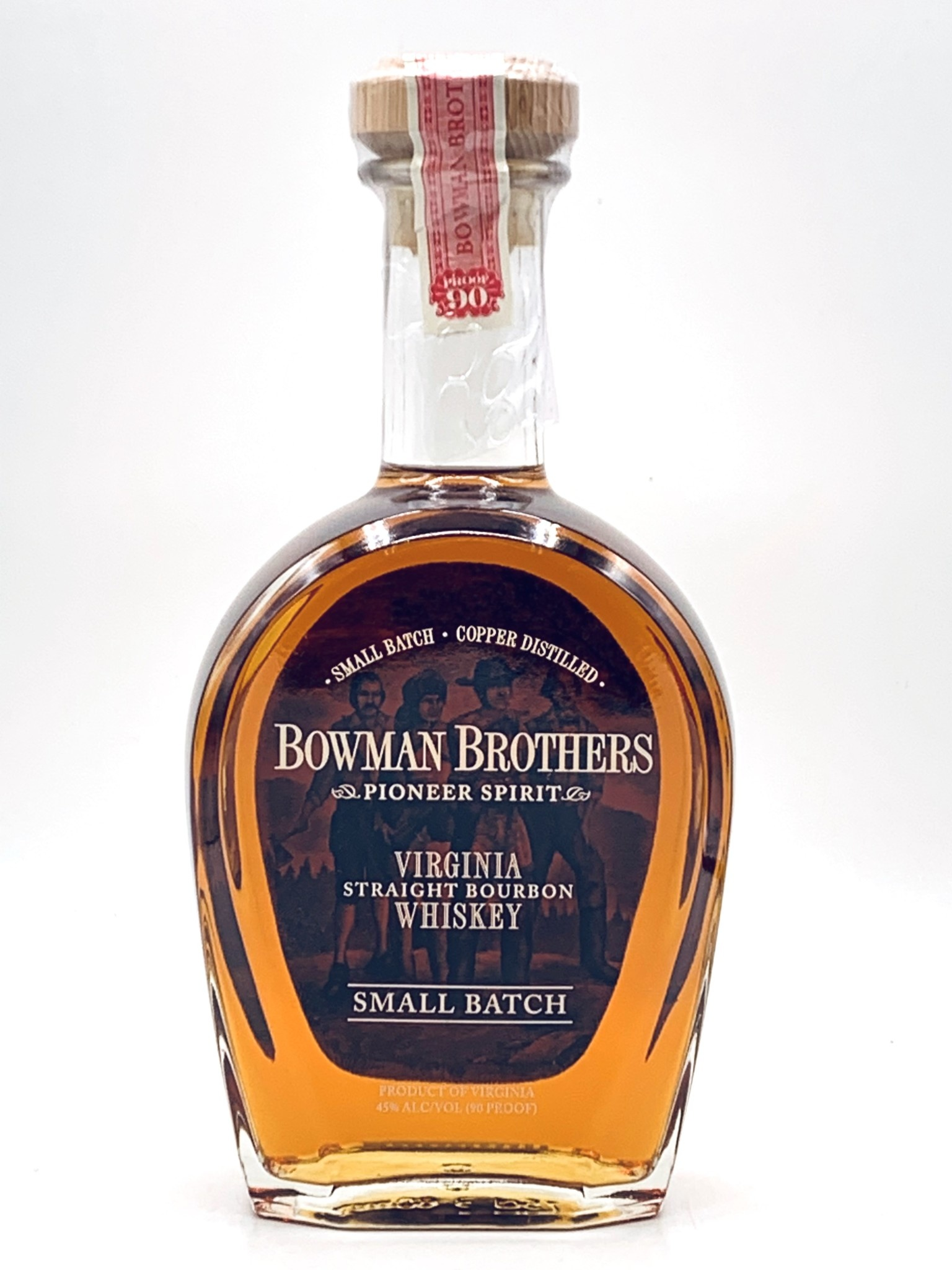 Bowman Brothers Virginia Straight Bourbon Whiskey Small Batch 750ml (90 proof) No Discounts.