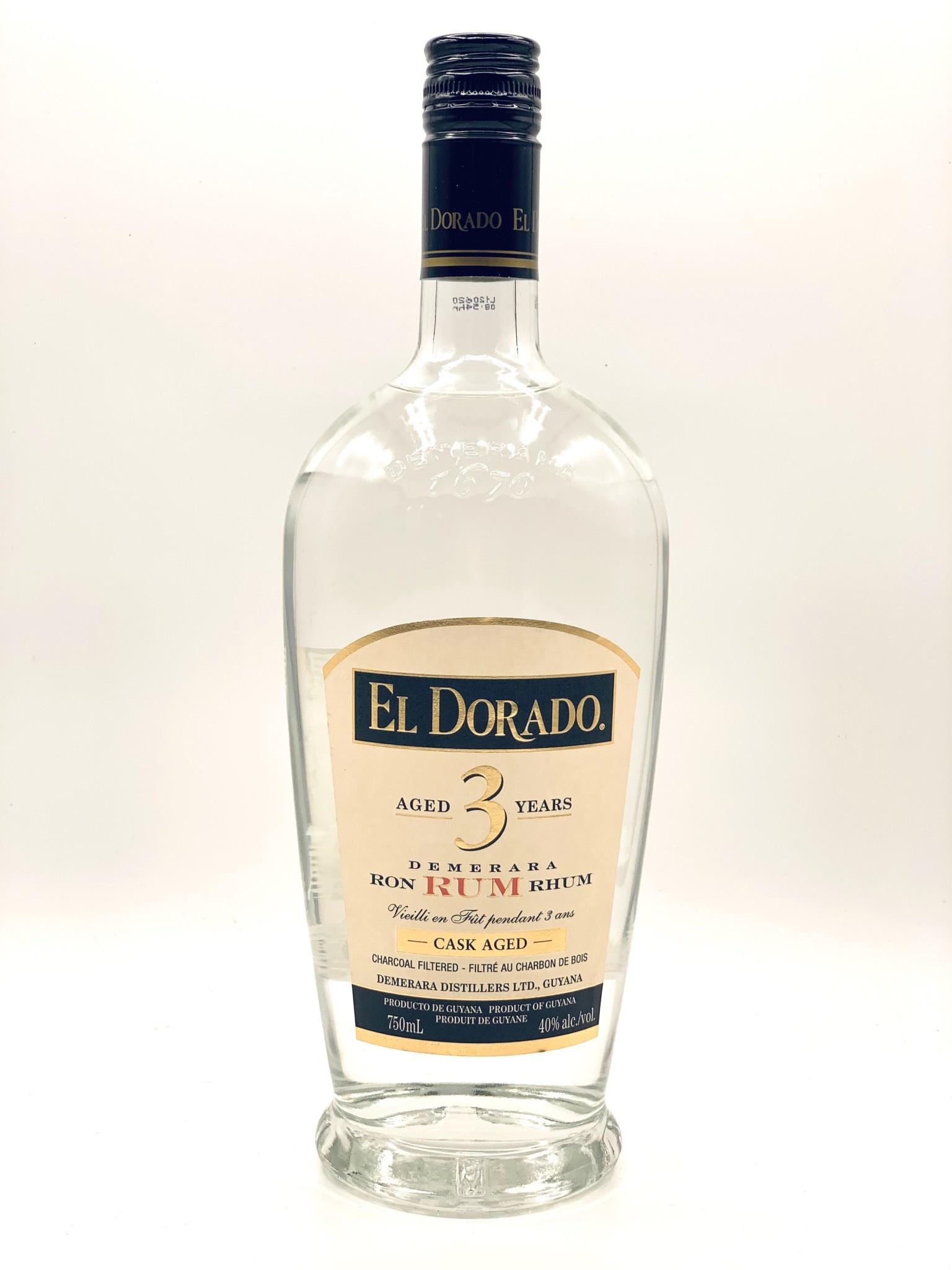 El Dorado 3yr Demerara White Rum Guyana 750ml (80 Proof)