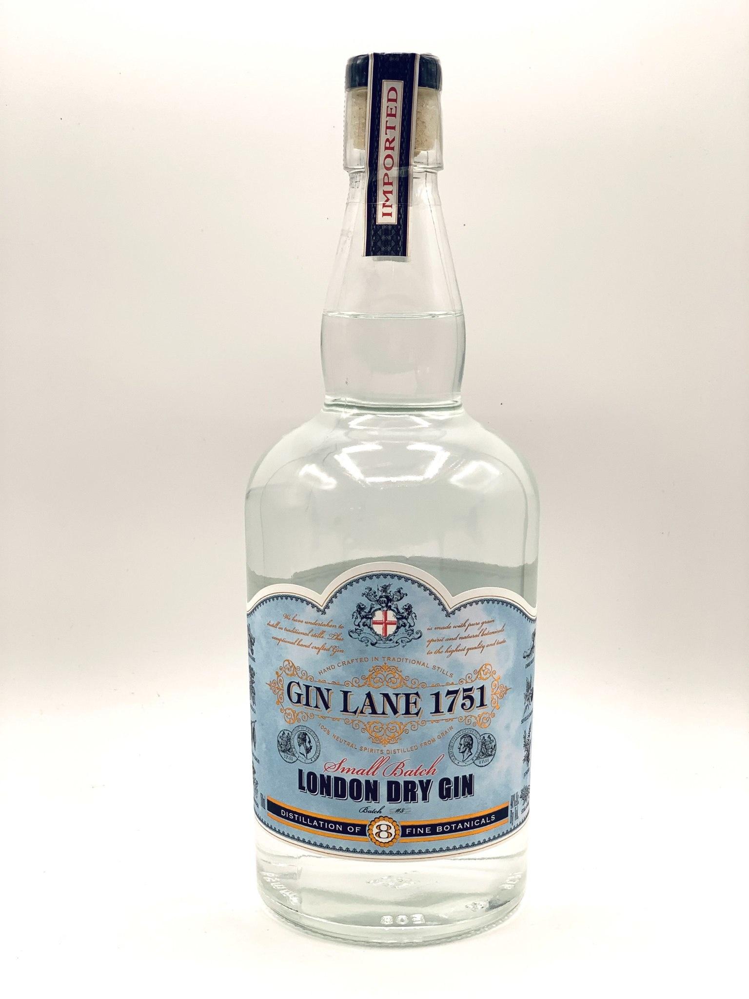 Gin Lane 1751 Small Batch London Dry Gin 750ml (80 Proof)