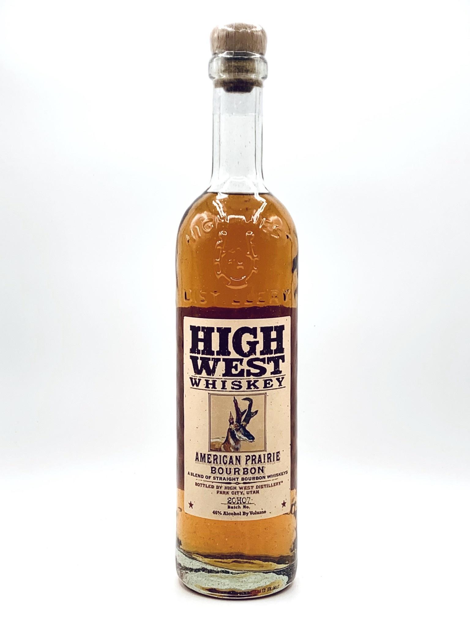 High West Distillery American Prairie Straight Bourbon  750ml  (80 proof)