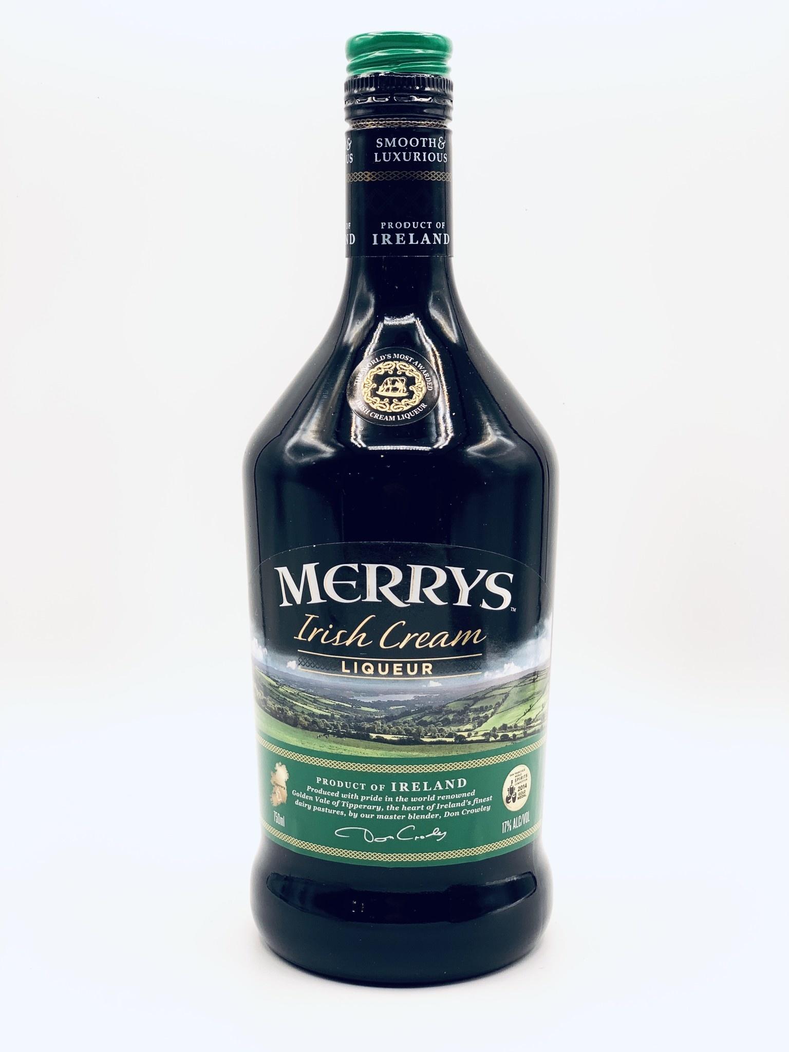 Merry's Irish Cream 17% ABV (34 proof)  750ml