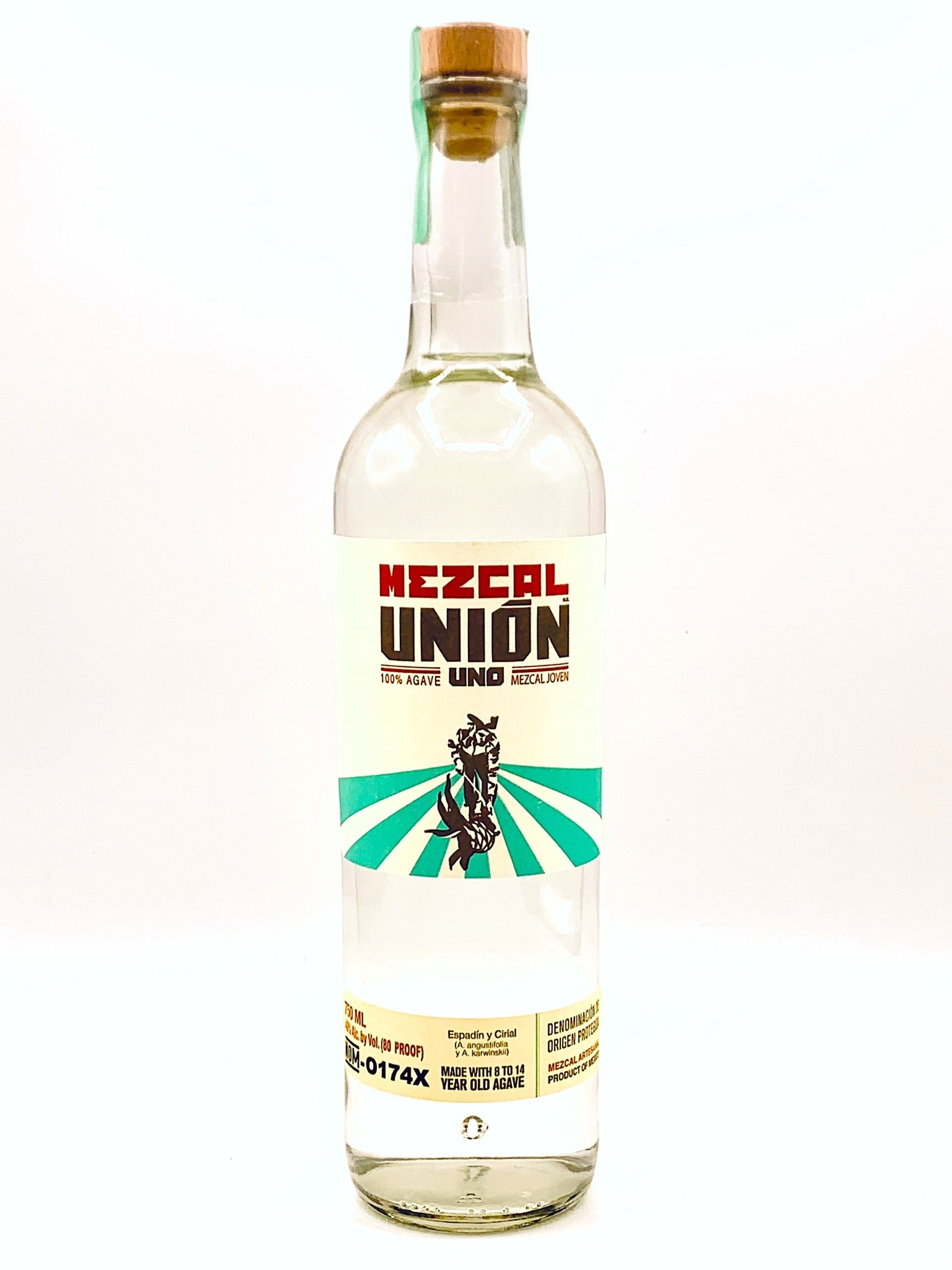 "Mezcal Union ""UNO"" Joven (80 proof)  750ml"