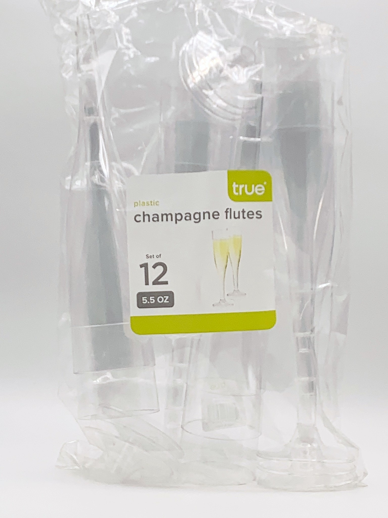 Plastic 5.5oz. Wine Flute 12pk