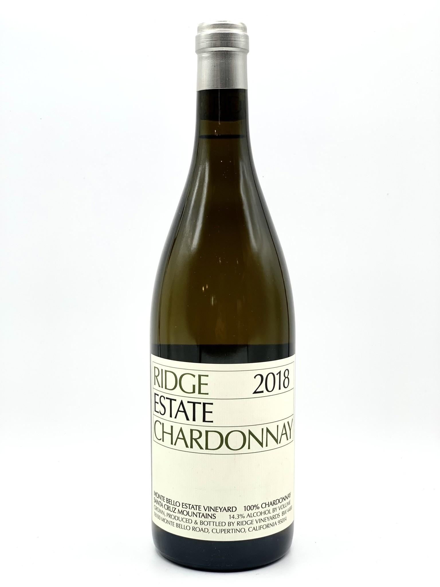 "Santa Cruz Mountain Chardonnay 2018 Ridge Vineyards ""Montebello"" 750ml"