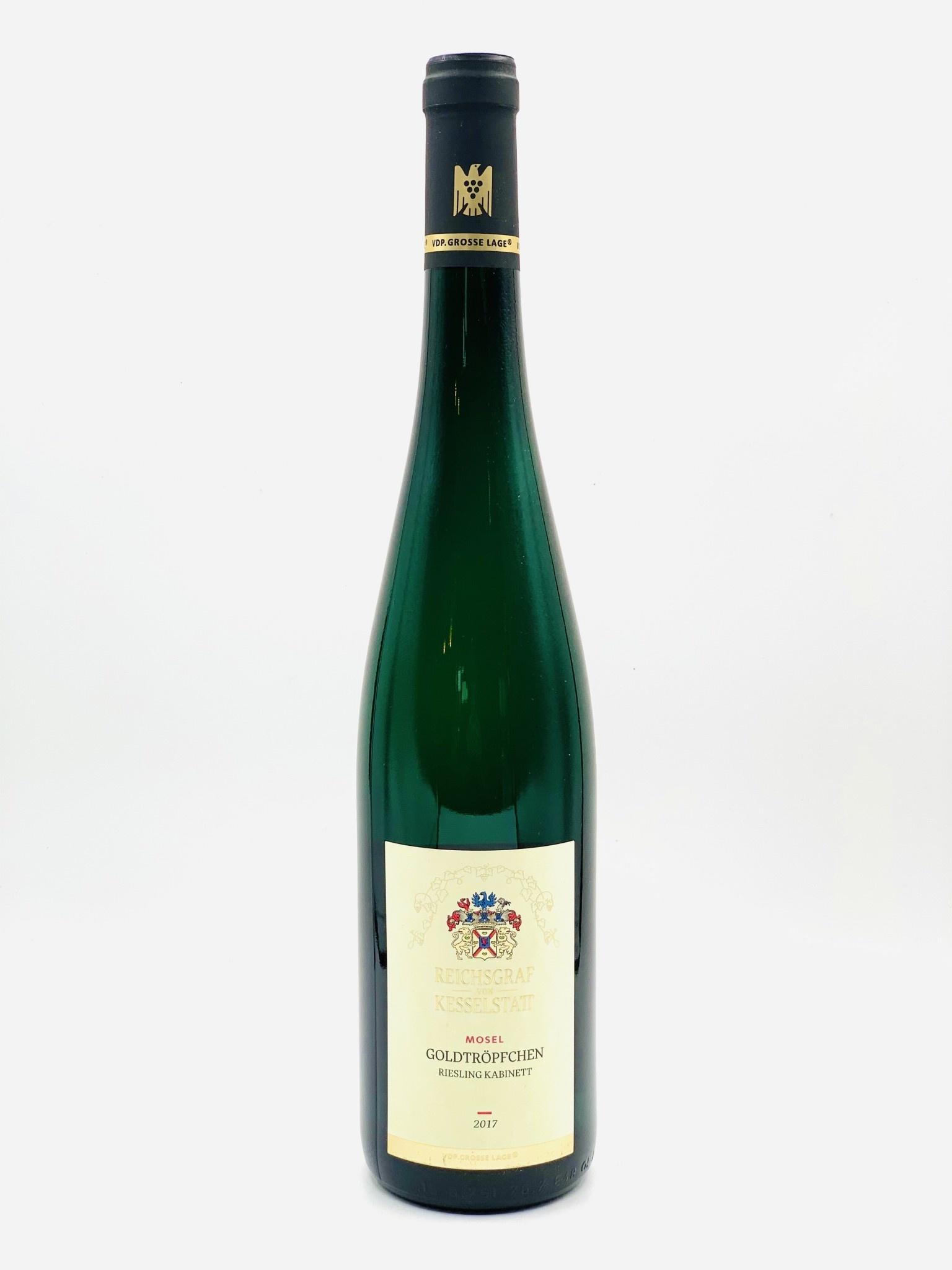 """Mosel Riesling Goldtropfchen 2017 Reichsgraf von Kesselstatt  """"Kabinett""""  750ml"""