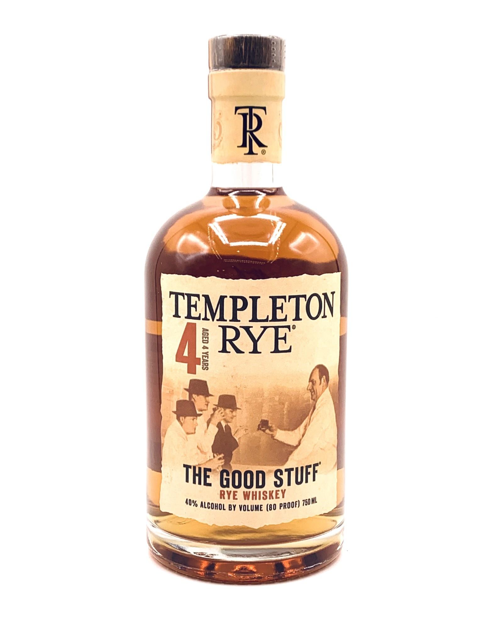 Templeton Small Batch Rye Whiskey Prohibition Recipe  750ml (80 proof)