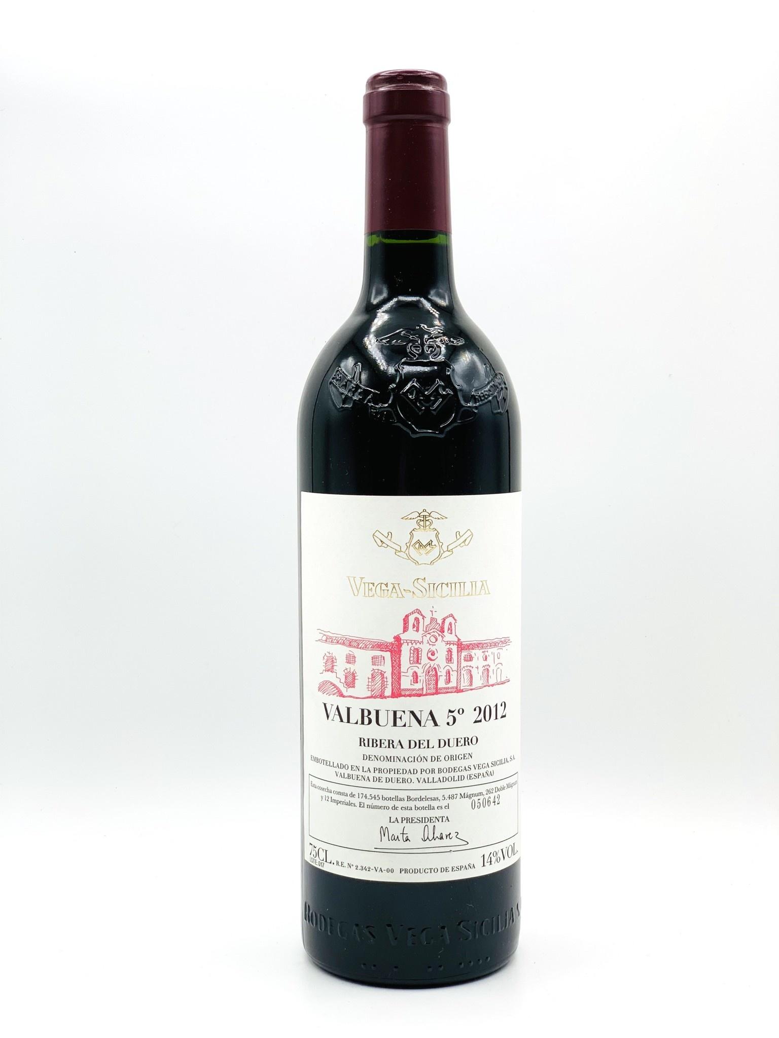 """Ribera Del Duero """"Valbuena 5"""" 2012 Tempos Vega Sicilia 750ml"""