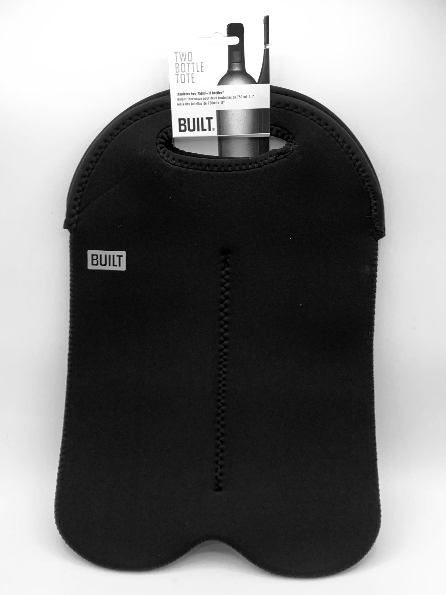BUILT 2-Bottle Wine Tote Bag Black
