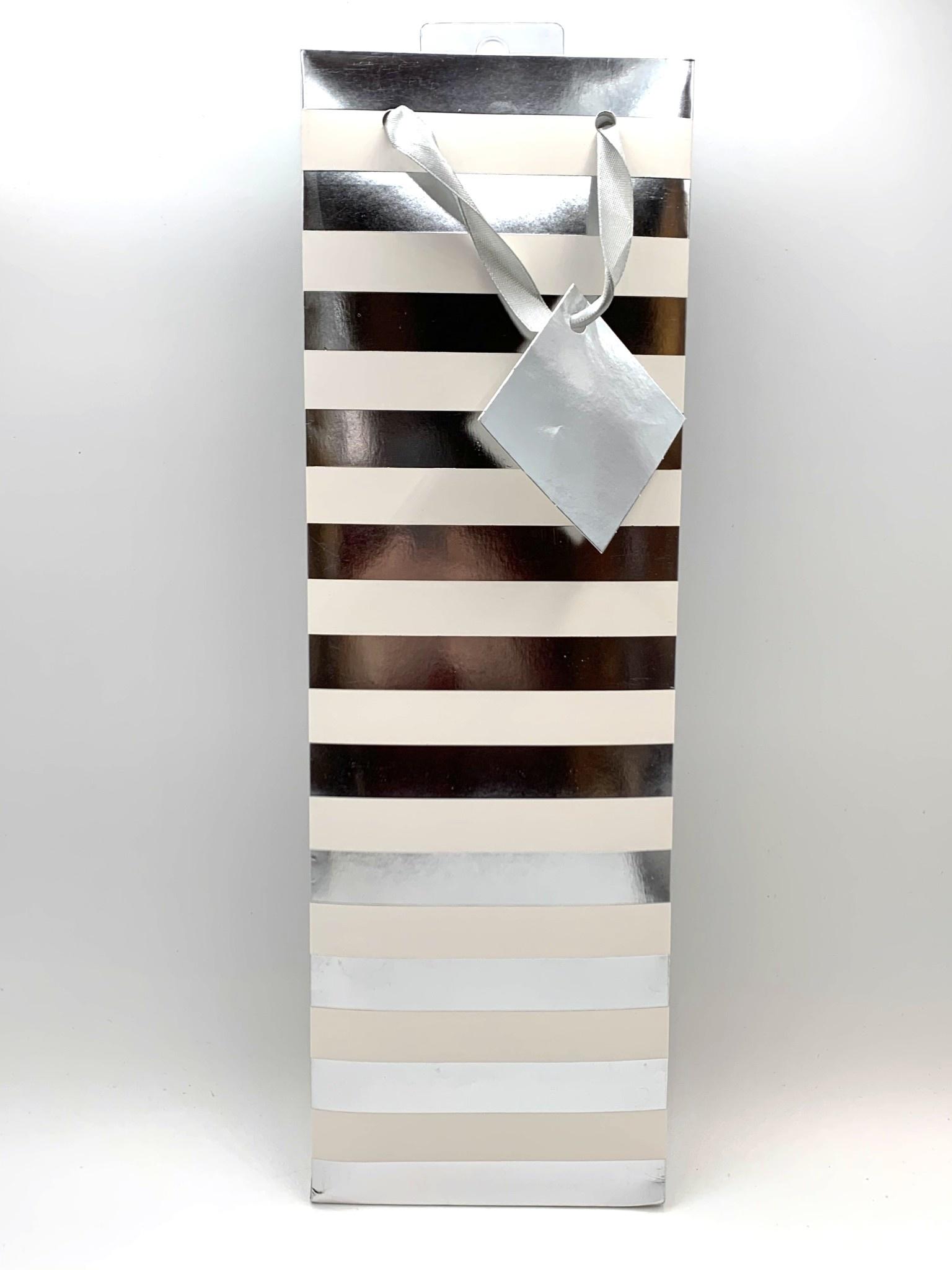 Ritzy Stripes 1-Bottle Assorted Gift Bag