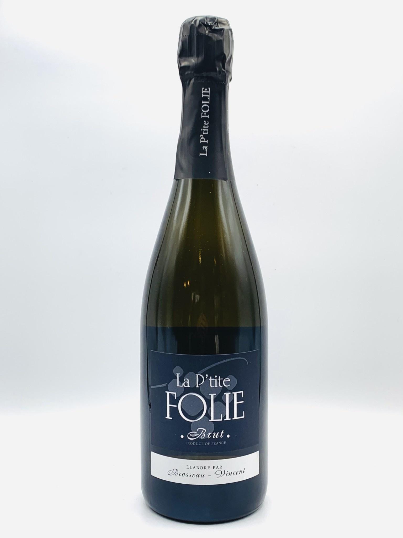 """Loire Sparkling Brut NV Domaine La Foliette """"P'tite Folie"""" 750ml"""