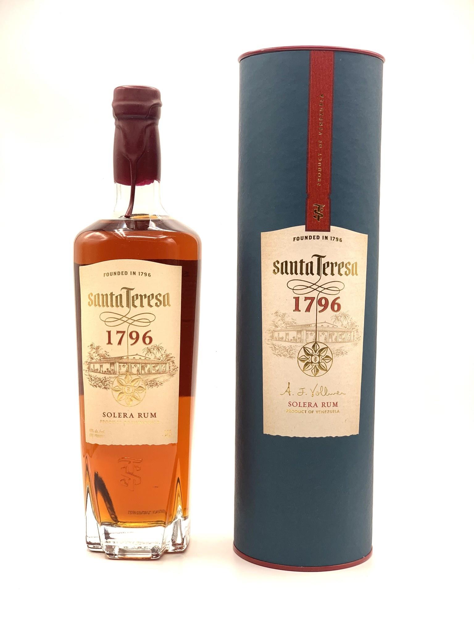 Santa Teresa 1796 Ron Antiguo de Solera Rum 750ml (80 Proof)