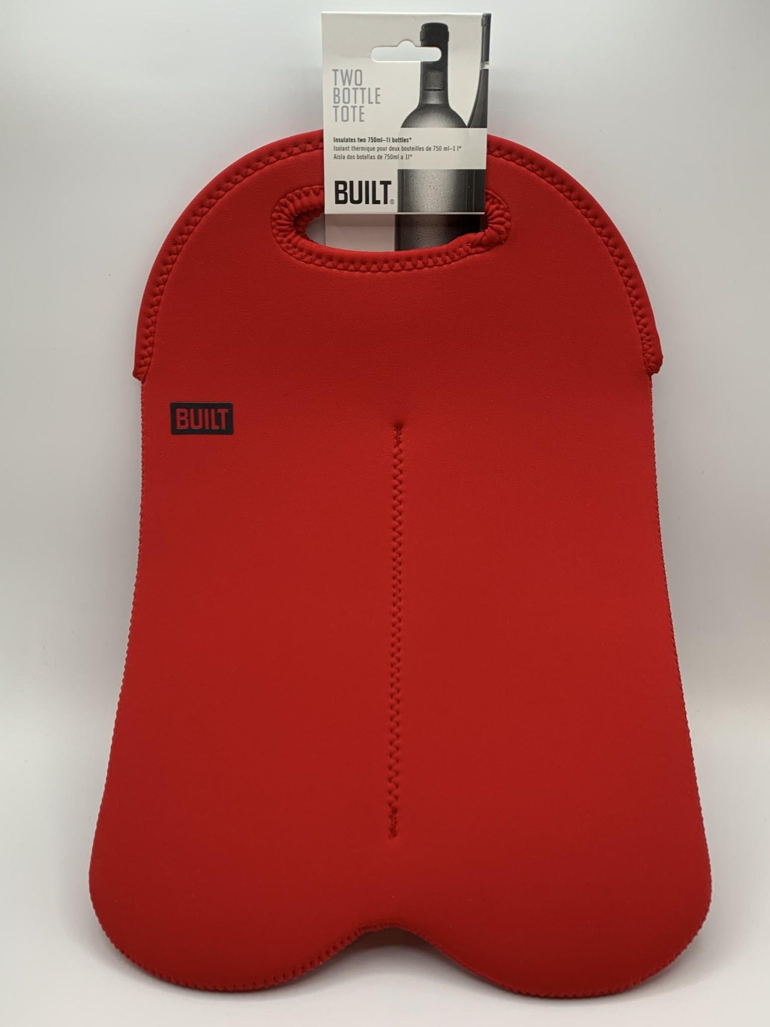 BUILT 2-Bottle Wine Tote Bag Red