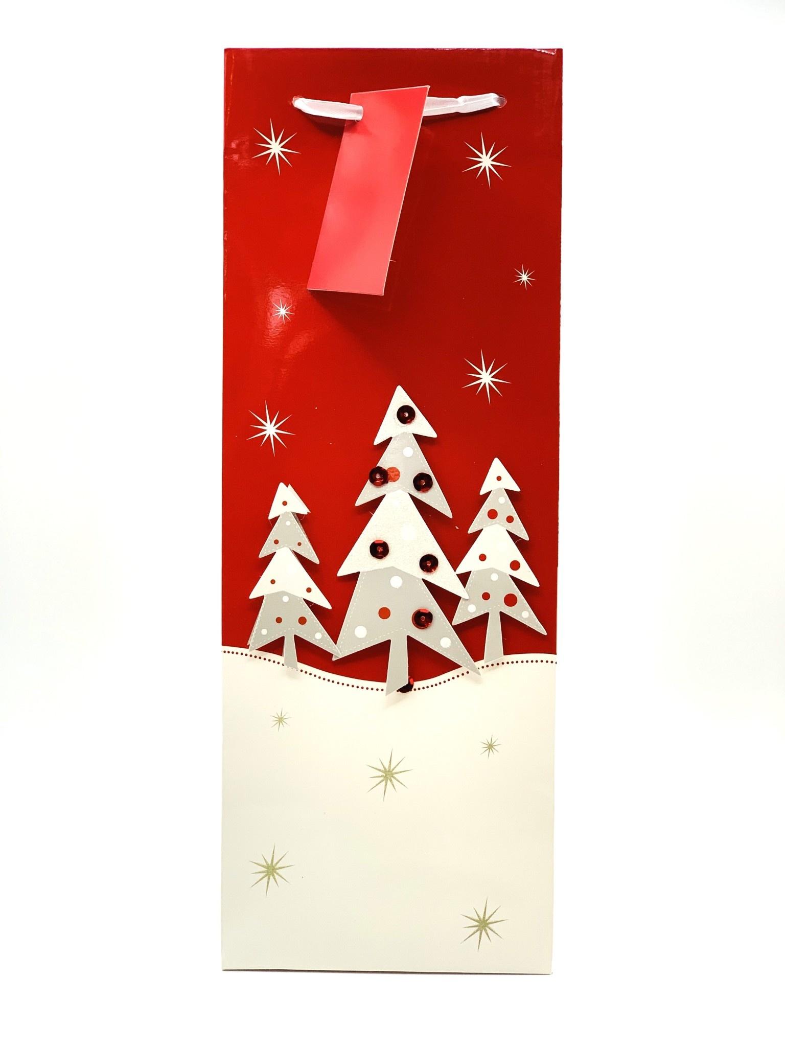 Assorted Merry Celebration 1-Bottle Gift Bag