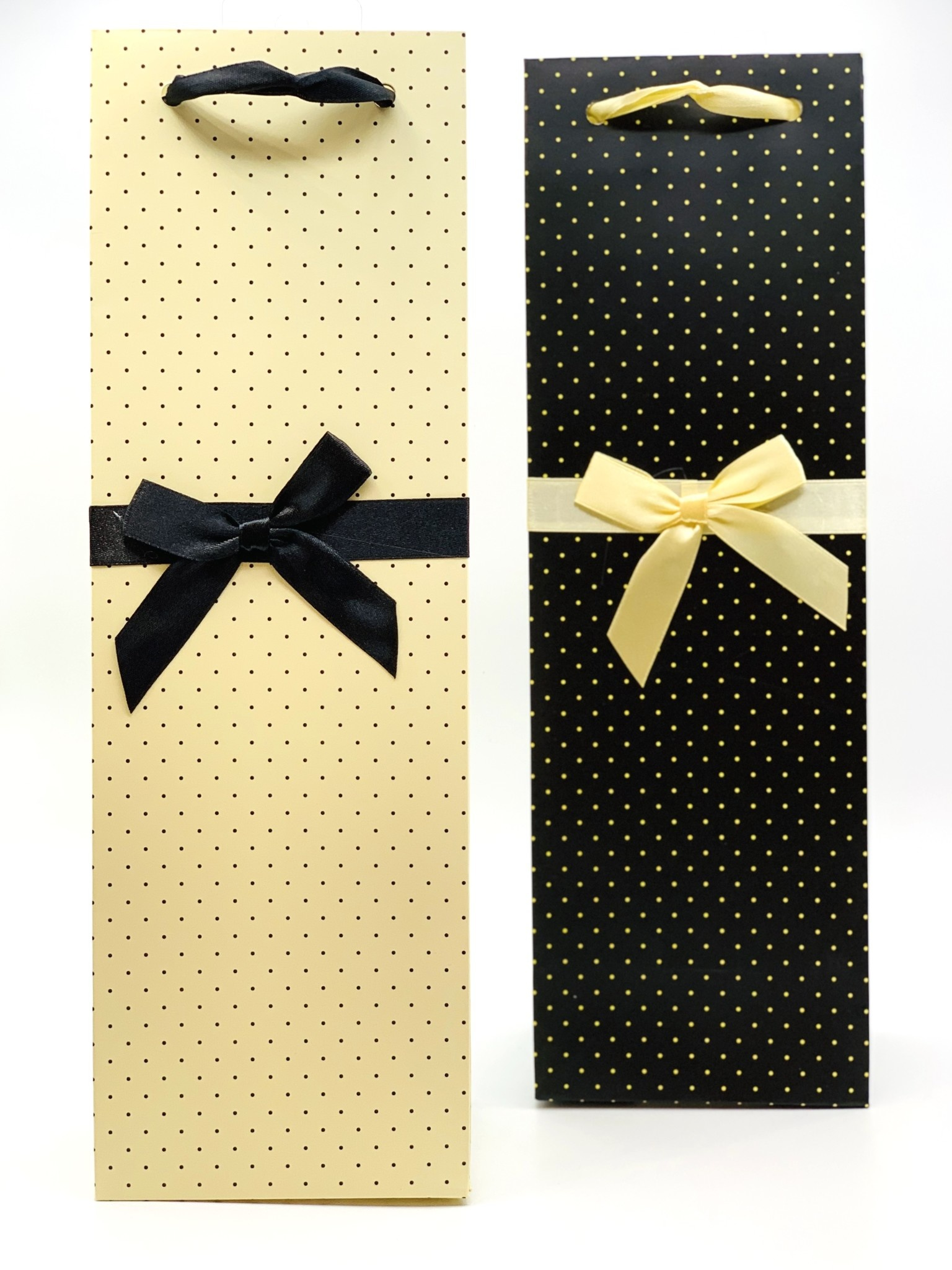 Elegant White and Black Polkadot 1bt Gift Bag