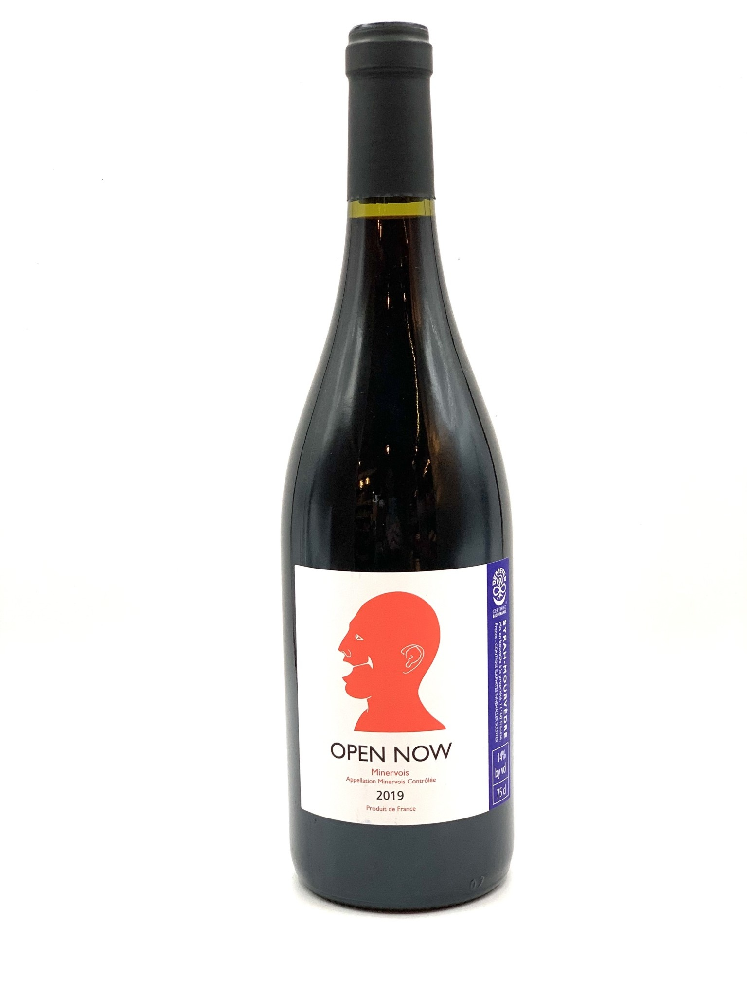 """Minervois Rouge """"Open Now"""" 2019 Domaine Hegarty Chamans  750ml"""