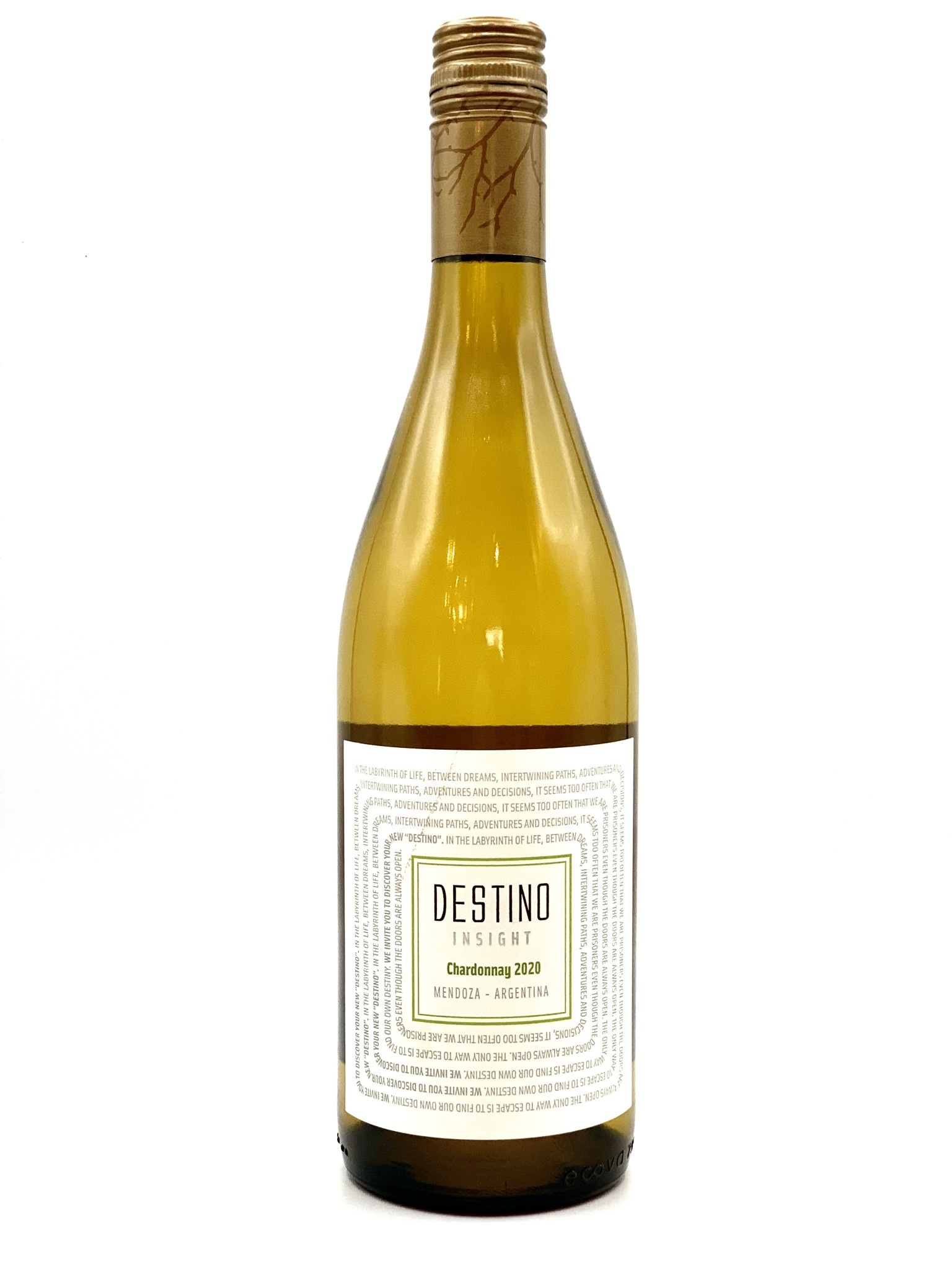 """Mendoza Chardonnay 2020 Bodega Rutini """"Destino Insight""""  750ml"""