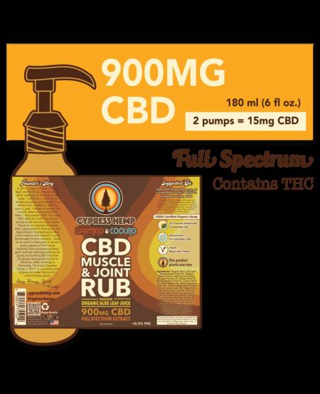 Cypress Hemp CBD Warming & Cooling Muscle and Joint Rub - 900mg