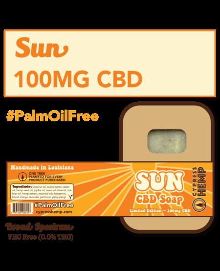 Cypress Hemp CBD Soap - Sun