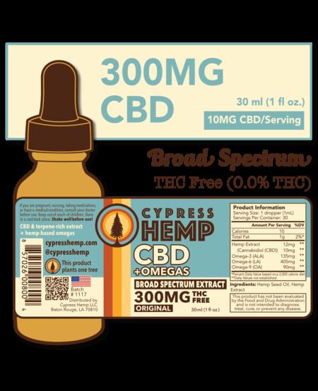 Cypress Hemp CBD + OMEGAS™ Oils - 300mg