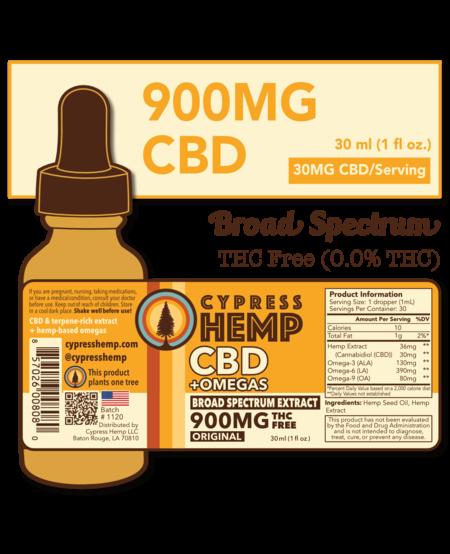 Cypress Hemp CBD + OMEGAS™ Oils - 900mg