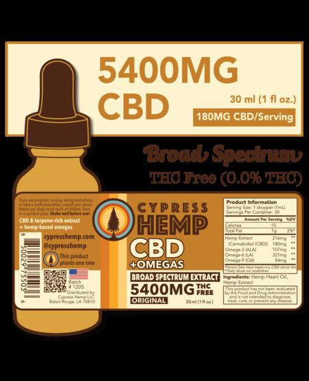 Cypress Hemp CBD + OMEGAS™ Oil 5400mg