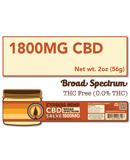 Cypress Hemp CBD Salve - 1800mg (Lavender & Eucalyptus)