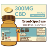 Cypress Hemp Cypress Hemp Broad Spectrum CBD Softgels - 30ct 300mg