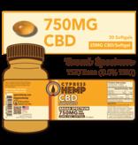 Cypress Hemp Cypress Hemp Broad Spectrum CBD Softgels - 30ct 750mg