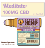 Cypress Hemp Cypress Hemp Broad Spectrum CBD + OMEGAS™ Roll-on - 100mg Frankincense & Myrrh