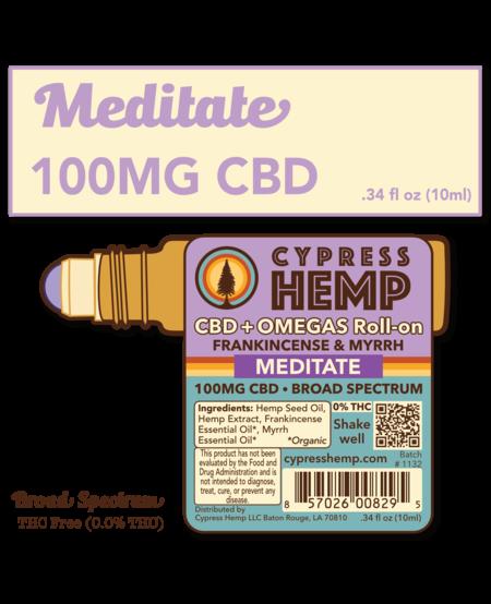 Cypress Hemp CBD + OMEGAS™ Roll-on - Meditate