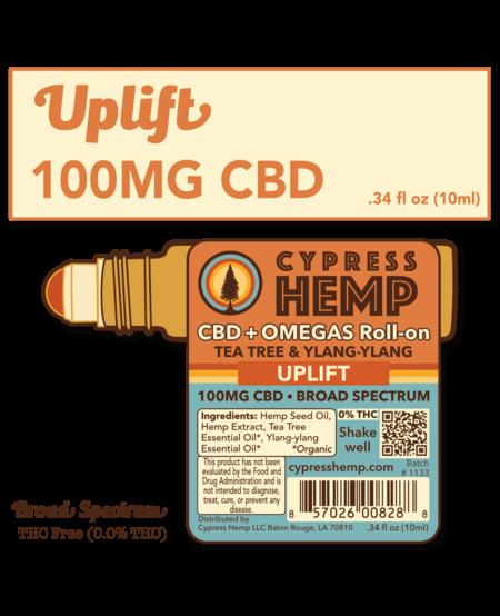 Cypress Hemp CBD + OMEGAS™ Roll-on - Uplift